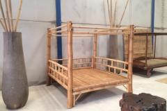 Cama Balinesa Bambu Palmera Mesa Raiz Teca