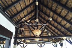 Pergola de junco africano granda
