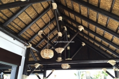 interior de chiringuito pergola de junco africano
