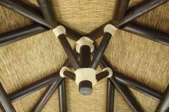 Interior Kiosko Cubierta de Junco