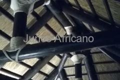 Cercha de Madera Pergola de Junco Africano Otura