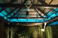 Interior Pergola de Junco Iluminacion Leds