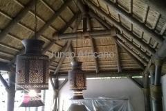 Interior de Pergola con Junco Africano