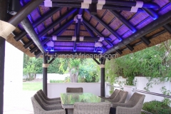 detalle interior Pergola de Junco Africano 2 iluminacion led