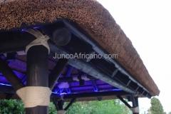 detalle lateral de Pergola de Junco Africano
