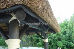 detalle cubierta Pergola de Junco Africano