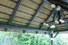 detalle de paño de pergola de junco africano