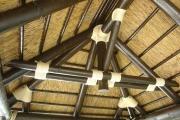 detalle interior de pergola de junco africano Malaga