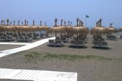 Sombrillas de Carrizo Marbella Playa